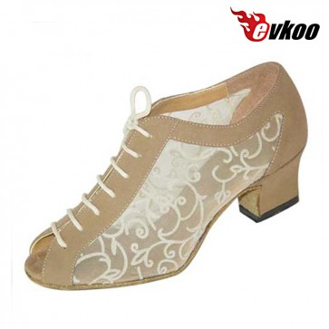 Nubuck woman modern dance shoes 4.5cm low heel with special design
