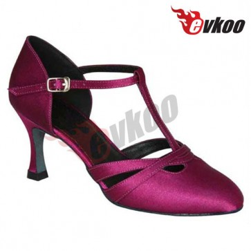 EVKOO  Mordern dance shoes made by satin material for ladies in party