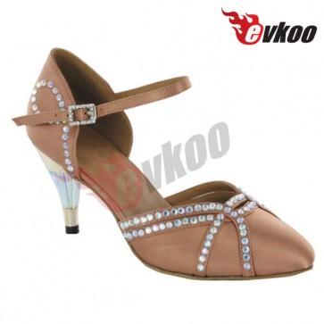 High Heel Satin + Sparking Upper Mordern Shoes for Ladies/Women