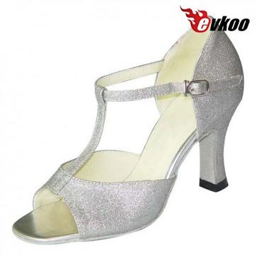 Evkoo Dance Golden Sliver Spacking 7cm Salsa Tango Latin Woman Dancing Shoes Evkoo-107