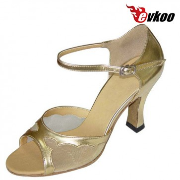 Evkoo Dance New Style High Quality Pu And Shiny Material 7cm Heel Can Be Customize Evkoo-117