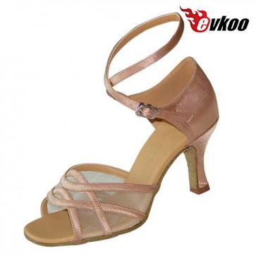 Endless starp satin black/khaki woman dance shoes
