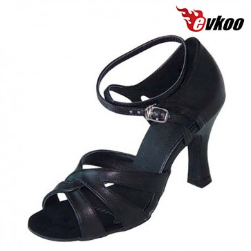 Woman Latin dance shoes High Quality nubuck satin or leather shoes 7 cm heel can be custom soft sole salsa shoes