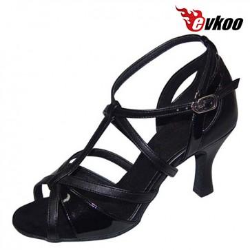 Evkoo Dance 7cm High New Style Woman Latin Salsa Dance Shoes Satin Or Pu Material Evkoo-170