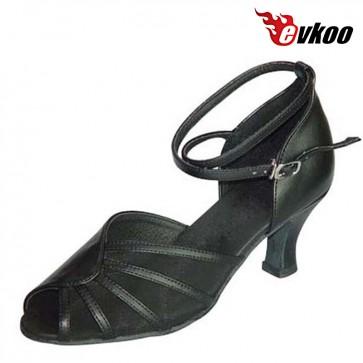 Evkoodance Brand Pu With Mesh New Design Woman Latin Salsa Dance Shoes 7cm Heel Evkoo-282