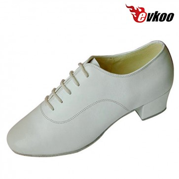 Handmade Factory Price High Quality Genuine Leather Man's Latin Dance Shoes With 4cm Heel Evkoo-289