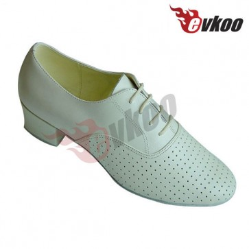 Breathable perforated leather latin/ballroom dance shoes for man