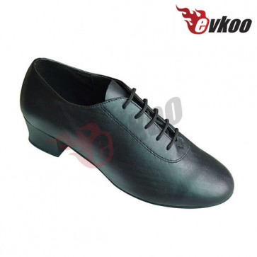 Genuine leather material for man's latin /salsa dance shoes with low heel