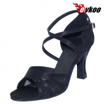 Evkoo Dance Sexy Leopard Color Four Style Can Be Choose 7cm Heel Satin Woman Dance Shoes Evkoo-091