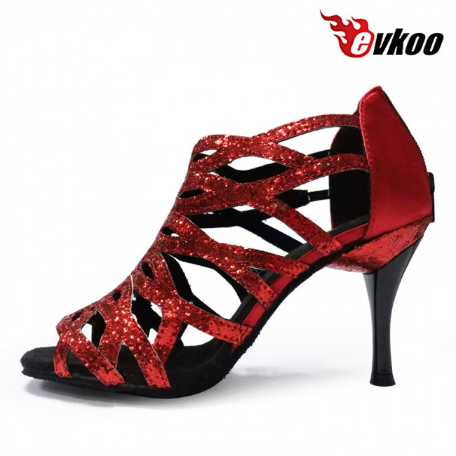 Red And Black Ballroom Dance Shoes