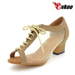 Transparent mesh fashional and comfortable Ladies Latin dance shoes