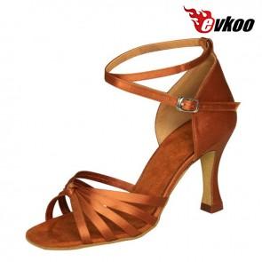 7CM satin woman Latin ballroom tango dance shoes simple elegant  style