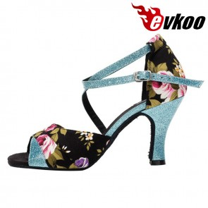 Be Your Lover New Design Flower Satin Latin Dance Shoes For Women Ballroom Shoes Online Dancing Shoes Made In China