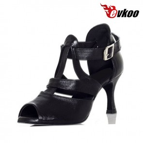 Evkoo Brand New Type Women Ballroom Dance Shoes 7cm Heel Leather Material Evkoo-390