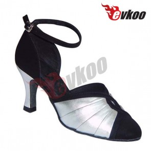 Classical professional middle heel lady ballroom mordern dance shoes