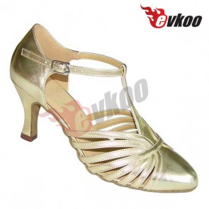 Modern ballroom dances shoes mid comfortable heel and safe sole