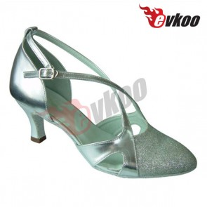 Fashion stylish lady Mordern dance shoe  made by PU leather with glitter