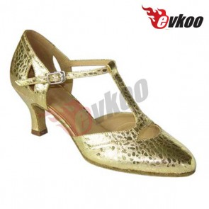 EVK Professional Fashion Ballroom Golden Mordern Dance Shoes,Woman Dance Shoes