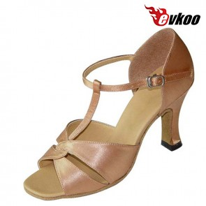 New Satin Latin /Ballroom Middle heel safe Dance Shoes for ladies