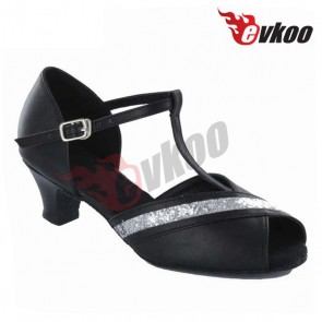 Satin/PU+sparking upper material for  girls Ballroom /Latin Dance Shoe