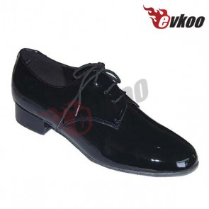 Mature man's dance shoes with low heel high level quality made by leather
