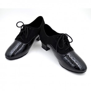 Nubuck and leather material man's latin/modern/ballroom dance shoes
