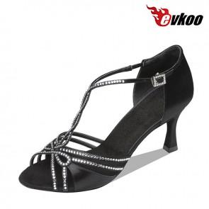 X-starp satin and diamond material beautiful design ladies Latin dance shoes